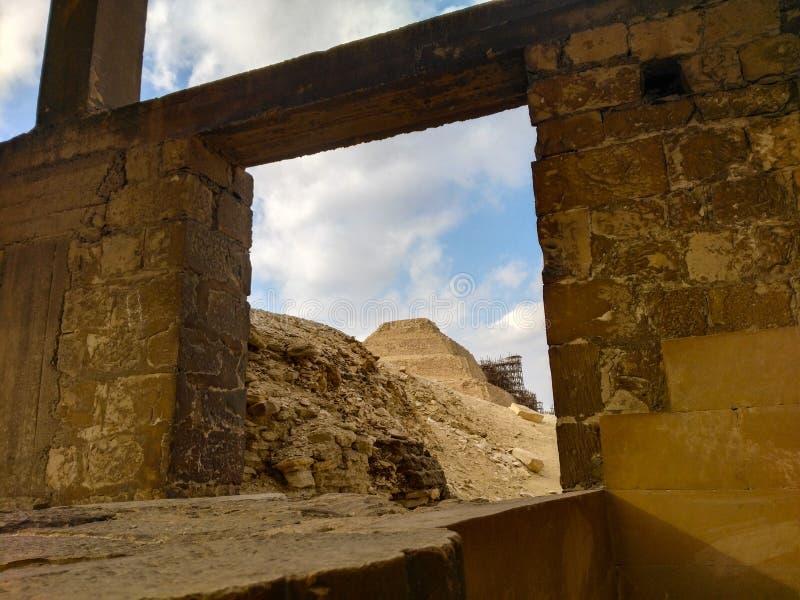 Piramide di Saqqara fotografia stock