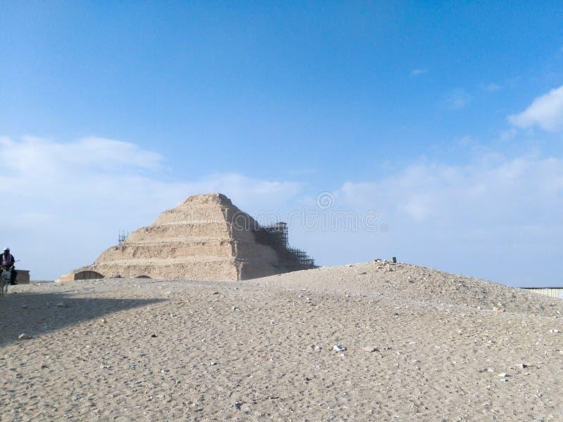 Piramide di Saqqara fotografia stock libera da diritti
