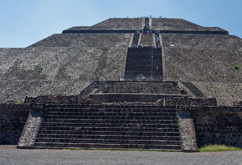 Piramide di The Sun Teotihuacan fotografia stock