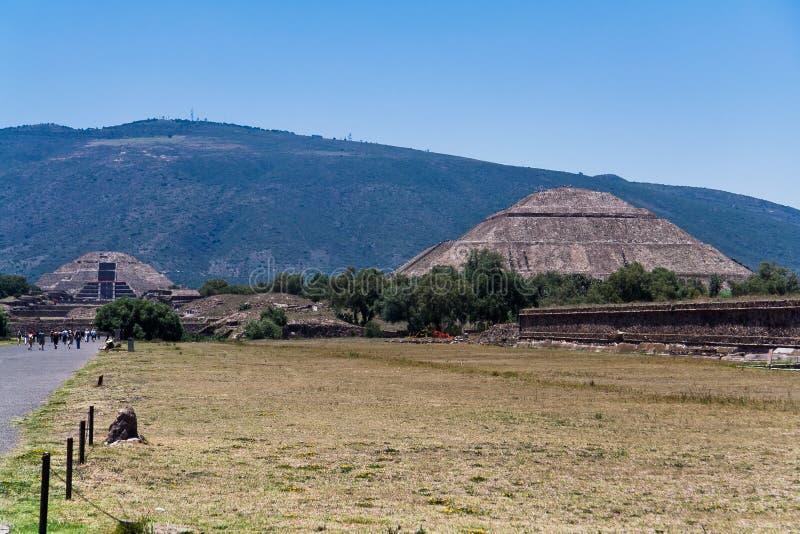 Piramide di The Sun Teotihuacan immagine stock libera da diritti