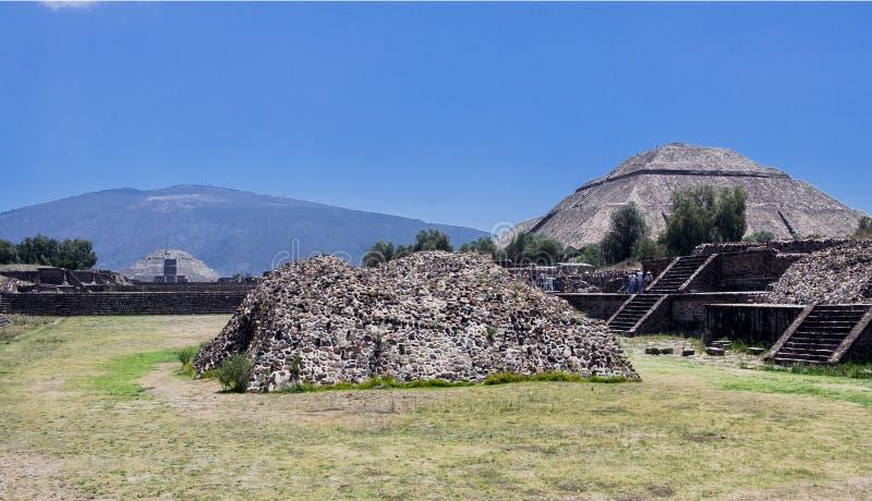 Piramide di The Sun Teotihuacan fotografia stock libera da diritti