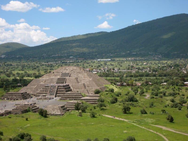 Piramide di Teotihuacan del Sun immagini stock libere da diritti