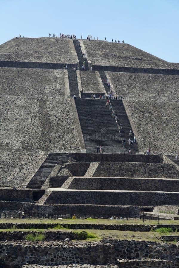 Piramide di Teotihuacan di The Sun immagine stock