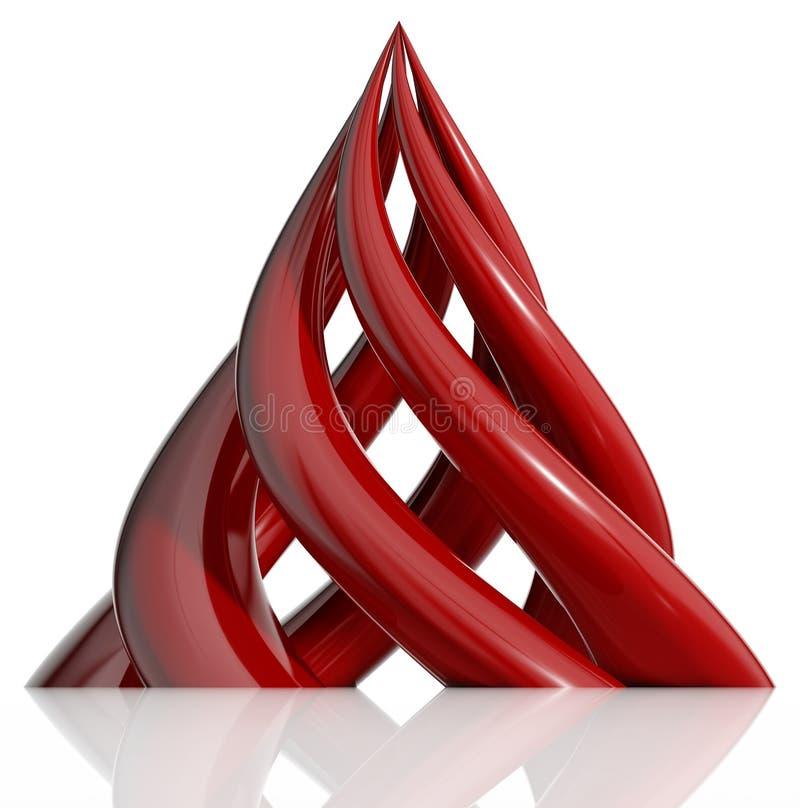 Piramide die van spiraalvormige elementen wordt gecre?ërd. royalty-vrije illustratie
