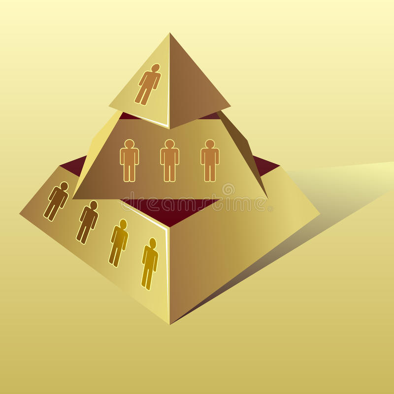 Piramide dorata illustrazione vettoriale