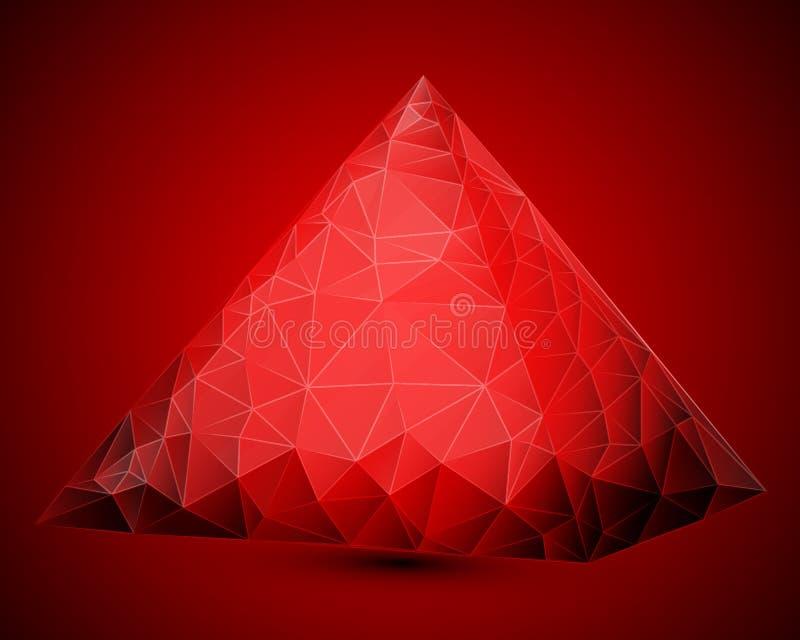 Piramide in driehoekige stijl royalty-vrije illustratie