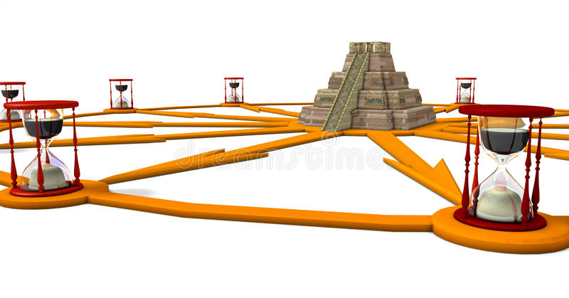 Piramide e vigilanza illustrazione vettoriale