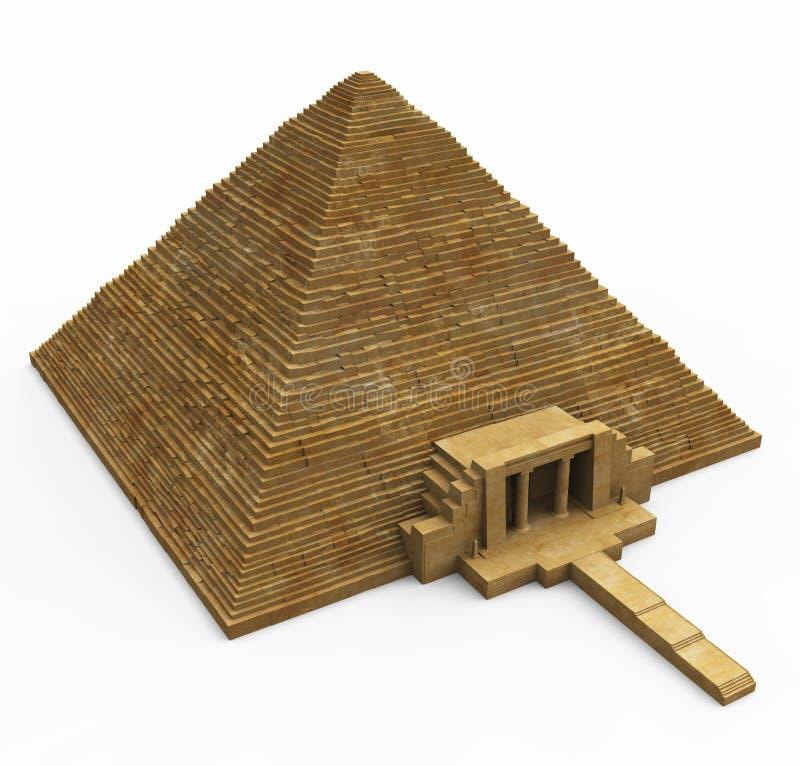 Piramide egiziana su bianco royalty illustrazione gratis