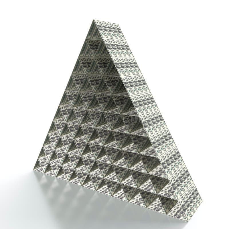 Piramide finanziaria illustrazione vettoriale