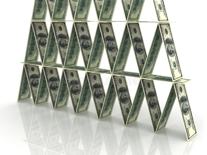 Piramide finanziaria royalty illustrazione gratis