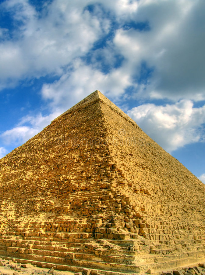 Piramide HDR 01 royalty-vrije stock foto's