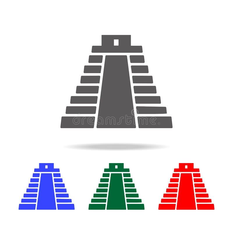 piramide in het pictogram van Mexico Elementen van cultuur van de multi gekleurde pictogrammen van Mexico Grafisch het ontwerppic stock illustratie