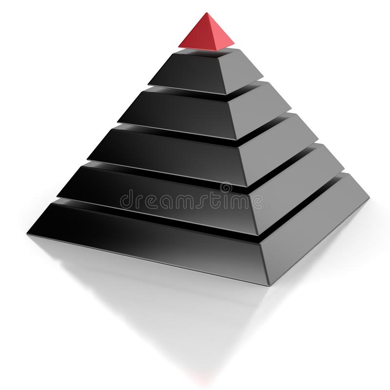 Piramide, hiërarchie abstract concept royalty-vrije illustratie