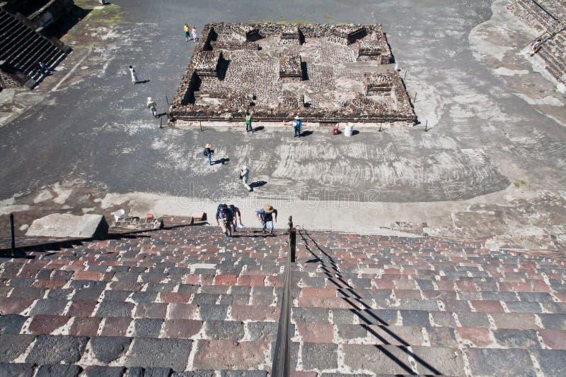 Piramide Messico della luna di Teotihuacan fotografie stock