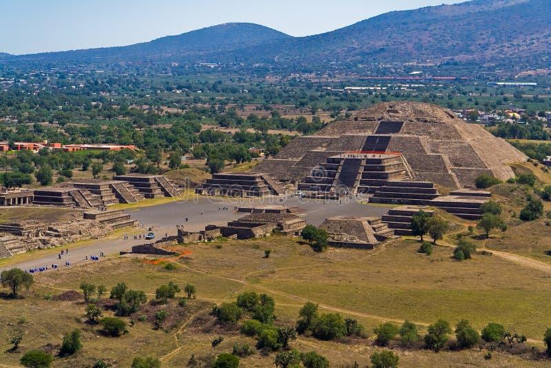 Piramide Messico della luna di Teotihuacan fotografia stock