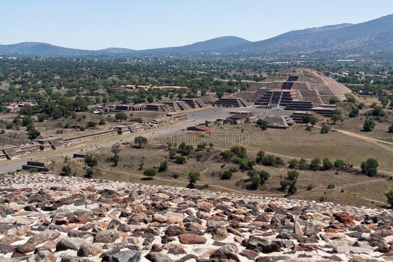 Piramide Messico della luna di Teotihuacan fotografia stock libera da diritti