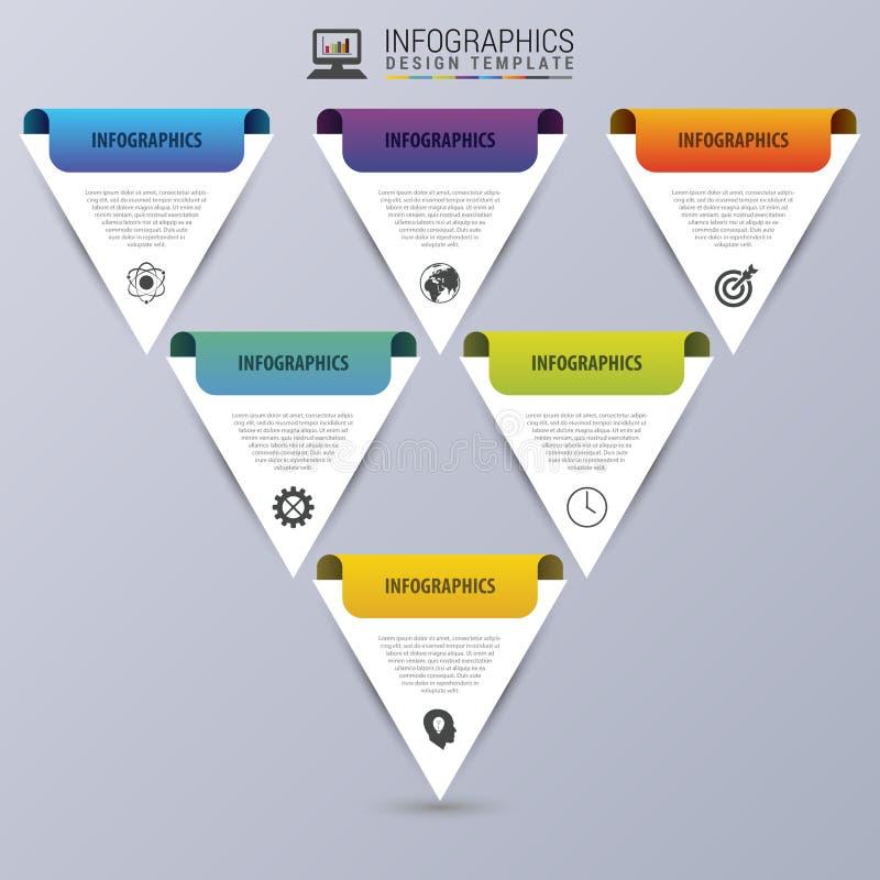piramide Modello di progettazione di Infographic Concetto moderno di affari Illustrazione di vettore illustrazione di stock