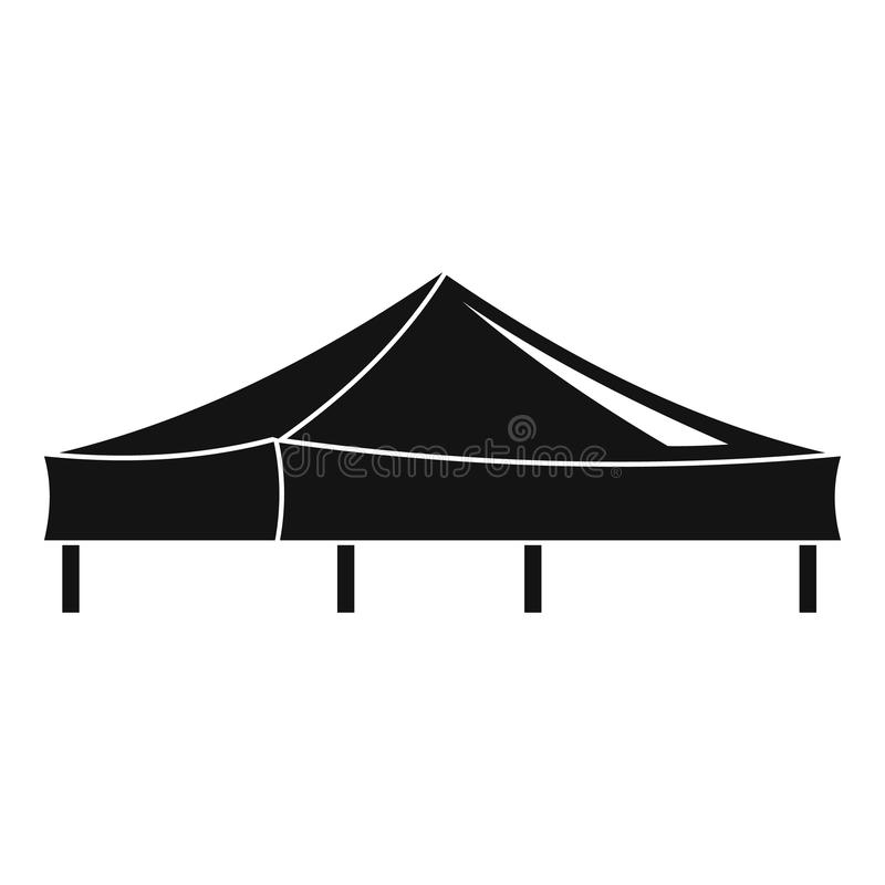 Piramide tent icon, simple style royalty free illustration