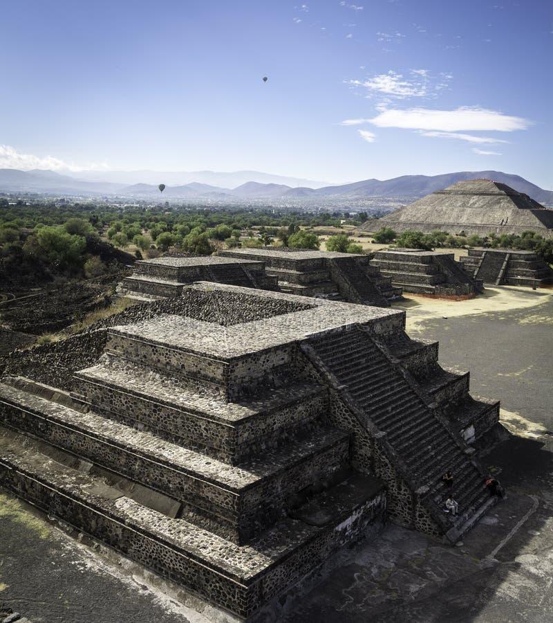 Piramide Teotihuacan di Sun immagine stock libera da diritti