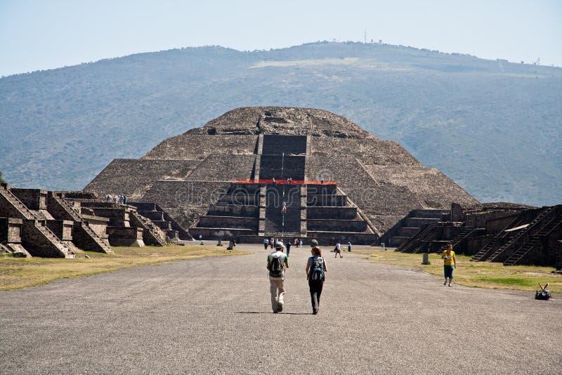 Piramide Teotihuacan Messico della luna fotografia stock
