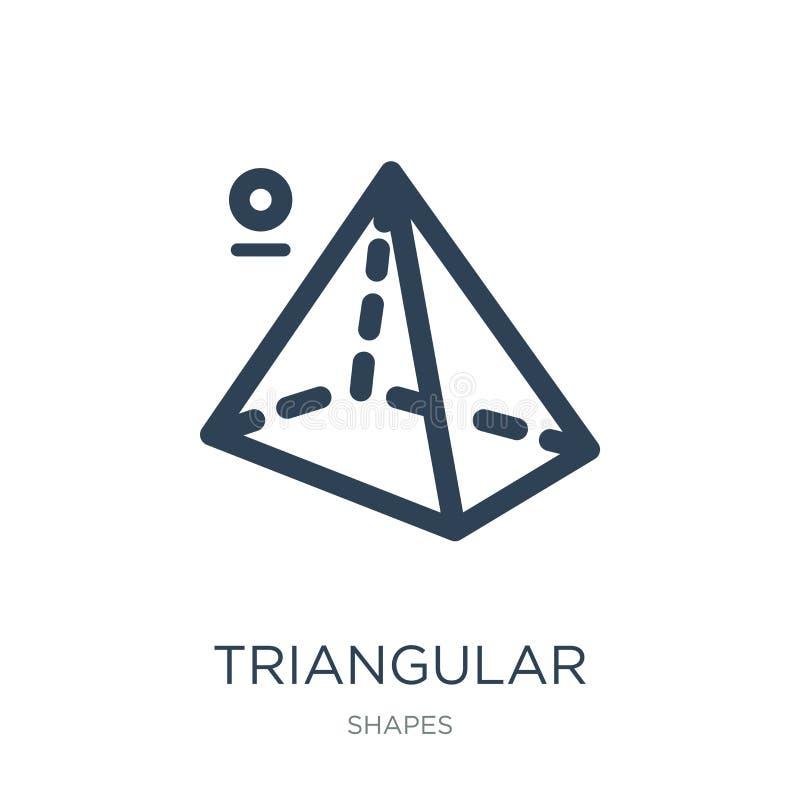 piramide triangolare dall'icona di vista superiore nello stile d'avanguardia di progettazione piramide triangolare dall'icona di  illustrazione vettoriale
