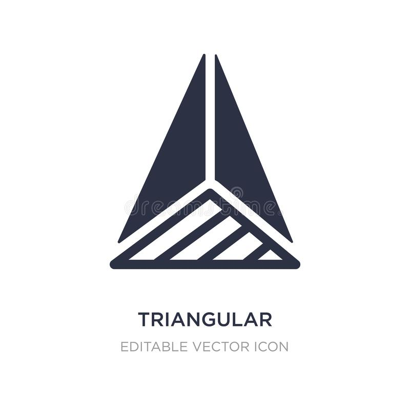piramide triangolare dall'icona di vista superiore su fondo bianco Illustrazione semplice dell'elemento dal concetto di forme royalty illustrazione gratis
