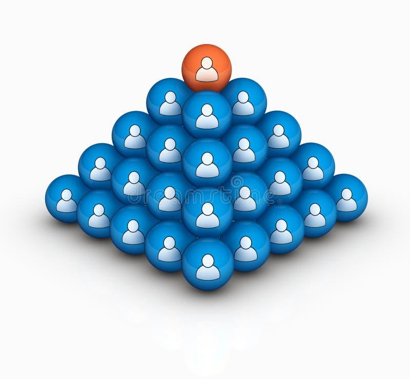 Download Piramide umana illustrazione di stock. Immagine di icona - 23246784