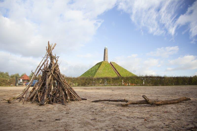 Piramide van Austerlitz op Utrechtse Heuvelrug royalty-vrije stock foto's