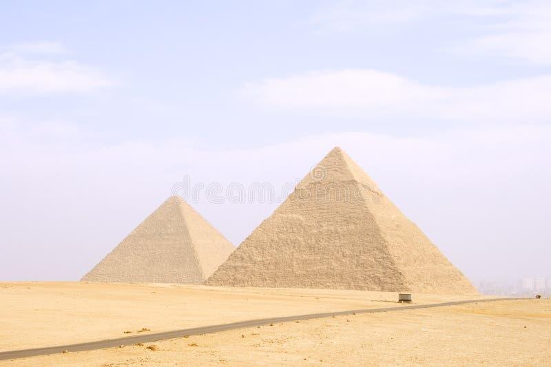 Piramide van Cheops en Khafre royalty-vrije stock afbeelding