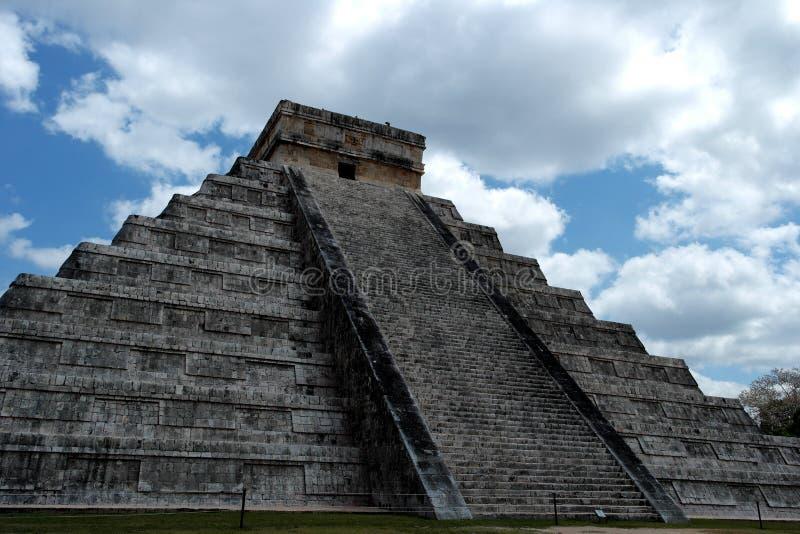 Piramide van Chichen Itza stock afbeelding