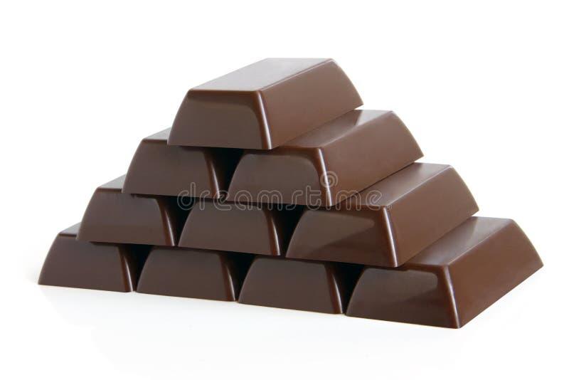 Piramide van chocoladesnoepjes royalty-vrije stock afbeelding