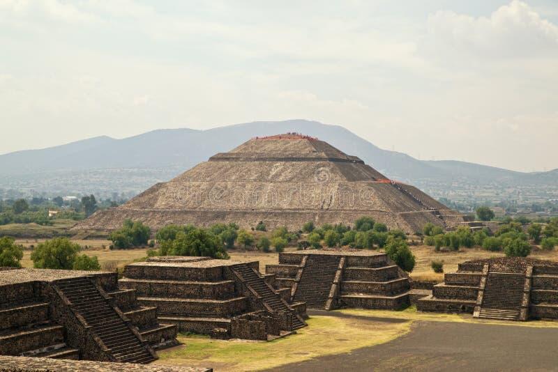 Piramide van de Zon stock foto