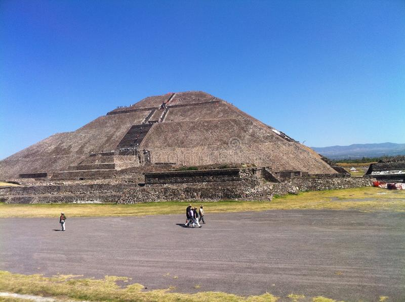 Piramide van de Zon Teotihuacan, Mexico (3) stock foto's