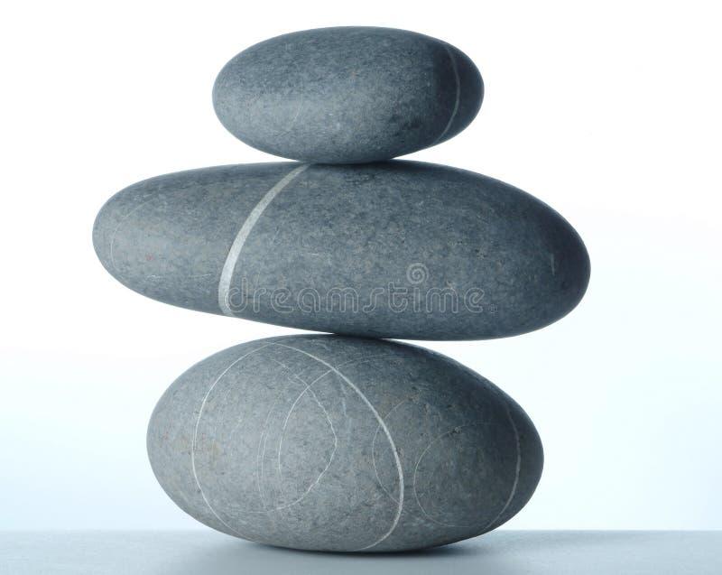 Piramide van drie steen-2 stock foto's
