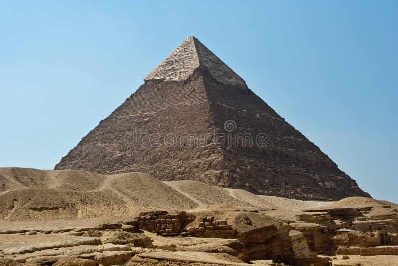 Piramide van Giza, Egypte stock afbeeldingen
