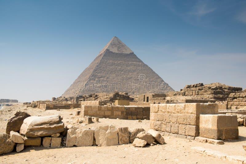 Piramide van Khafre royalty-vrije stock afbeeldingen