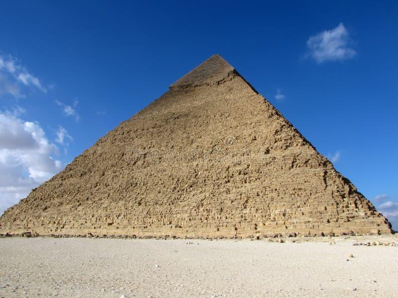 Piramide van Khafre (Chephren), Egypte royalty-vrije stock afbeelding
