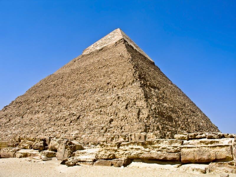 Piramide van Khafre, Giza, Egypte stock afbeelding