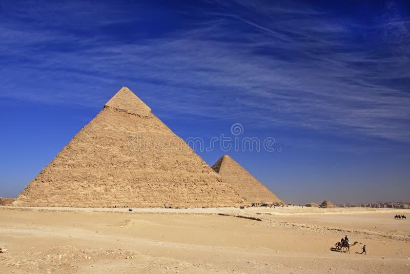 Piramide van Khafre, Kaïro stock fotografie