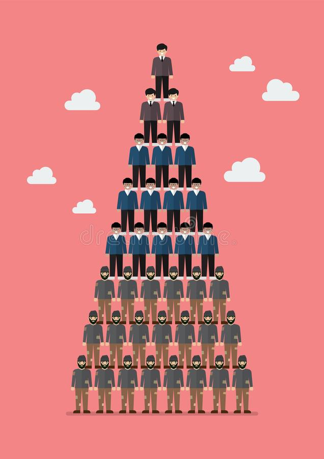 Piramide van sociale klasse royalty-vrije illustratie