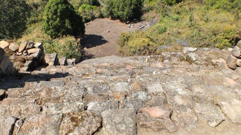 Piramideruïnes van San Felipe los Alzati, Zitacuaro, Mexico royalty-vrije stock afbeelding