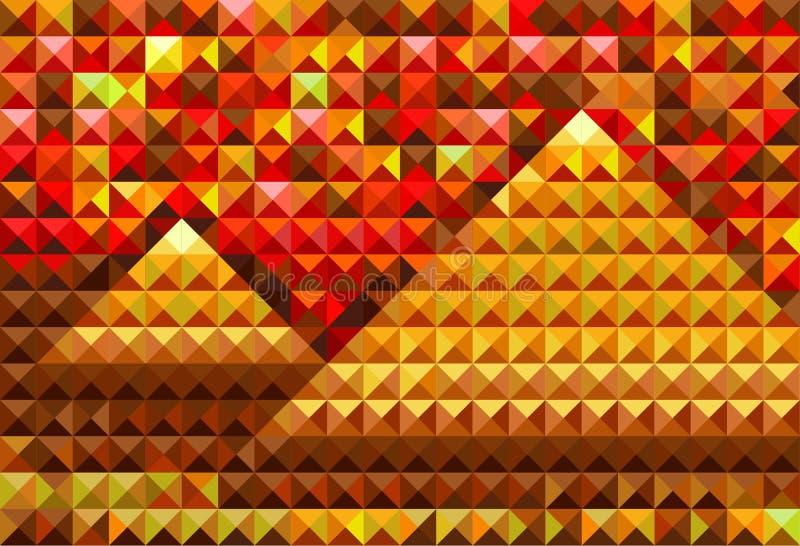 Piramides do ouro ilustração do vetor