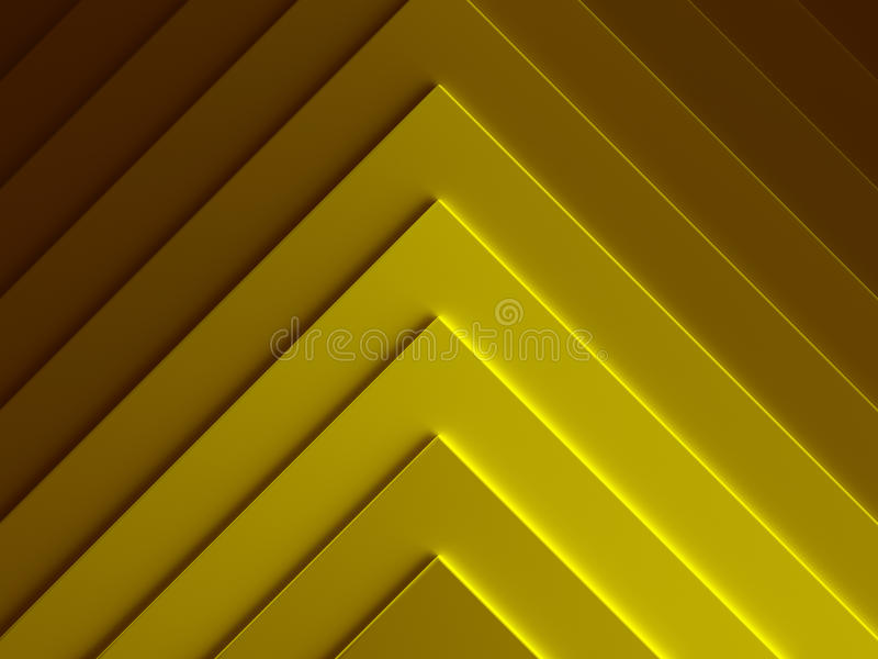 piramides Gouden abstract patroon voor stock illustratie