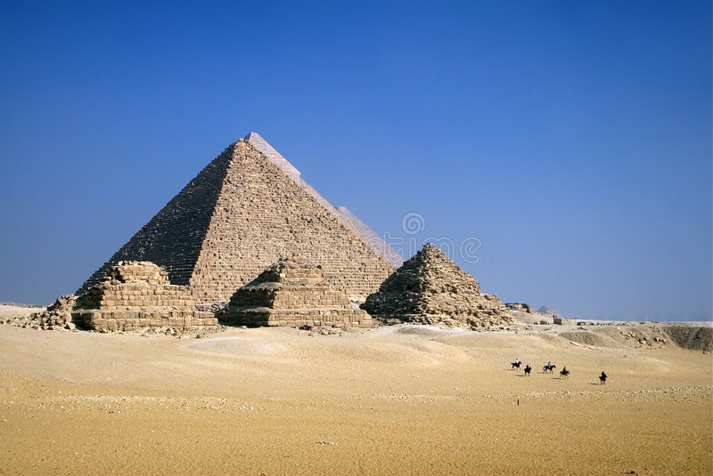 Piramides op Horseback stock afbeelding