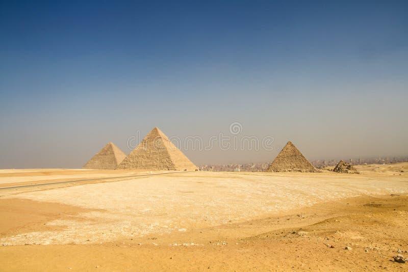 Piramides van Giza, Egypte royalty-vrije stock foto's