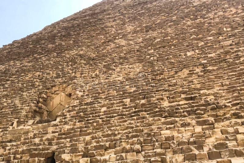 Piramides van Giza Grote Piramides van Egypte Zevende wonder van de wereld Oude megalieten royalty-vrije stock afbeelding