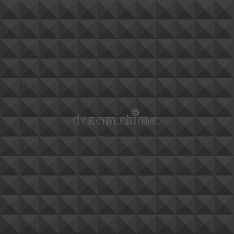 Piramides zwart patroon royalty-vrije illustratie