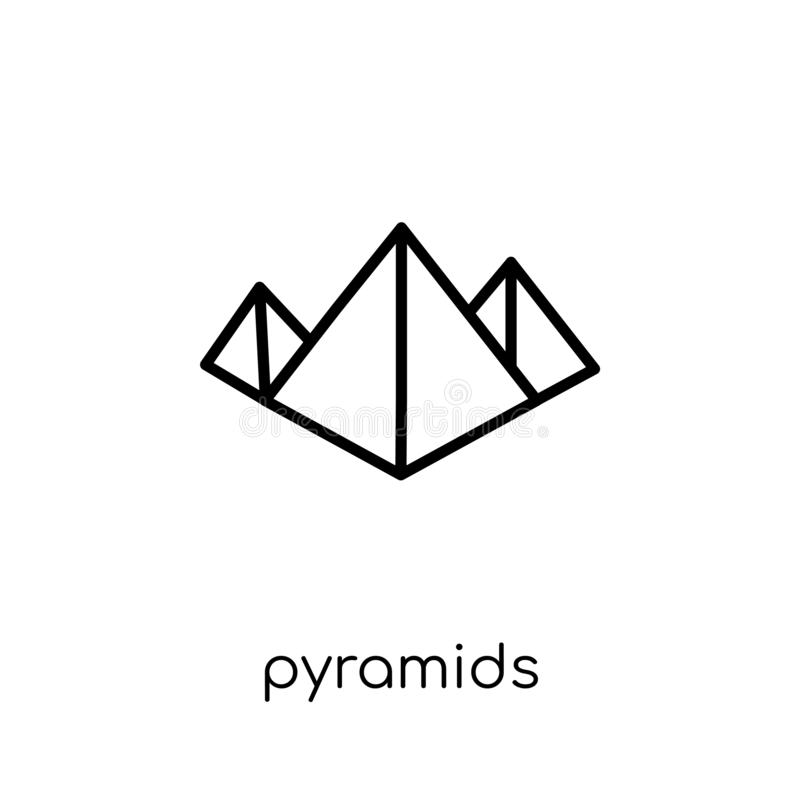 Piramidespictogram  stock illustratie