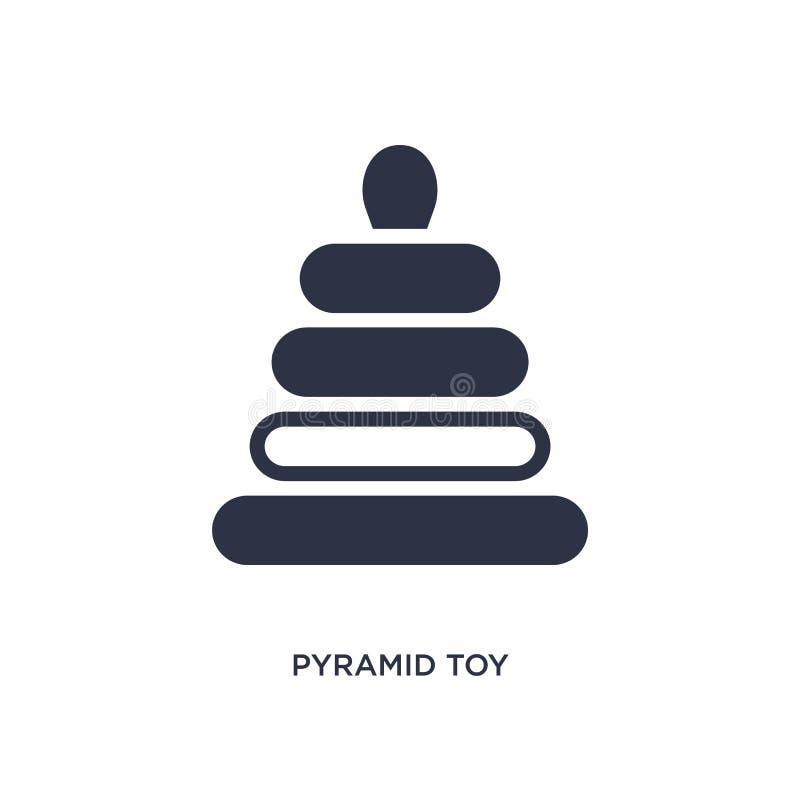 Piramidestuk speelgoed pictogram op witte achtergrond Eenvoudige elementenillustratie van speelgoedconcept royalty-vrije illustratie