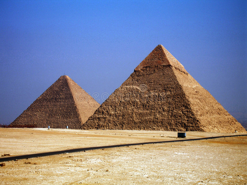 Piramidi fotografie stock